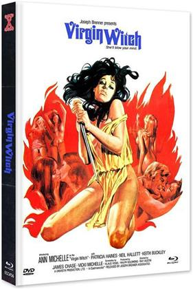 Virgin Witch (1972) (Cover B, Edizione Limitata, Mediabook, Uncut, Blu-ray + DVD)