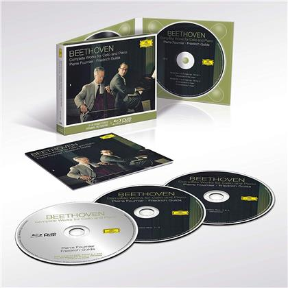 Ludwig van Beethoven (1770-1827), Pierre Fournier & Friedrich Gulda (1930-2000) - Complete Works For Cello (2 CDs + DVD)