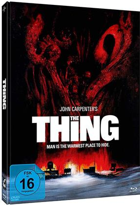 The Thing (1982) (Edwards Cover, Limited Edition, Mediabook, 2 Blu-rays + DVD)