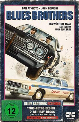 Blues Brothers (1980) (VHS Retro Edition, Extended Edition, Versione Cinema, Edizione Limitata, 2 Blu-ray)