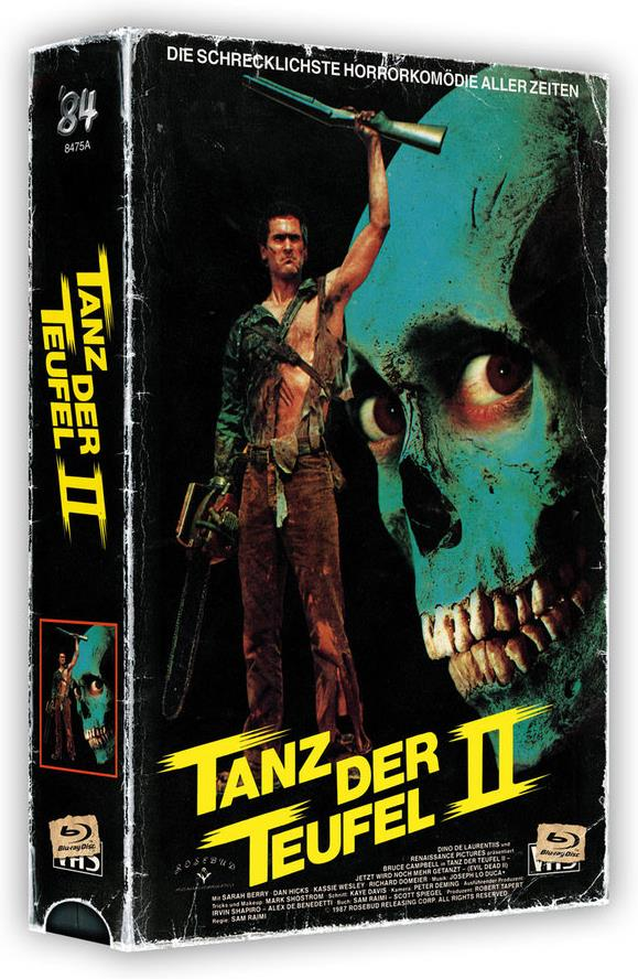 Tanz der Teufel 2 (1987) (VHS Box, + Poster, Cover A, Limited Edition, Uncut, 4K Ultra HD + 2 Blu-rays)