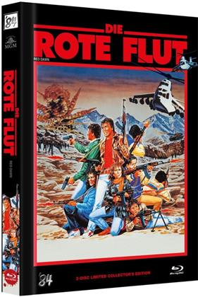 Die Rote Flut (1984) (Cover C, Limited Collector's Edition, Mediabook, Uncut, Blu-ray + DVD)
