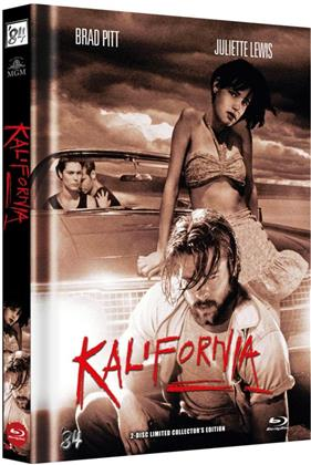Kalifornia (1993) (Cover C, Collector's Edition Limitata, Mediabook, Uncut, Blu-ray + DVD)