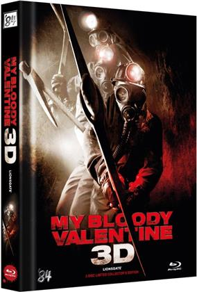 My Bloody Valentine 3D (2009) (Cover B, Limited Collector's Edition, Mediabook, Uncut, Blu-ray 3D (+2D) + DVD)
