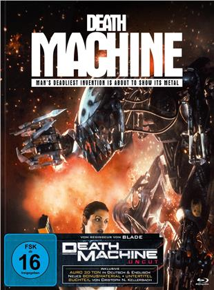 Death Machine (1994) (Cover C, Limited Edition, Mediabook, Uncut, Blu-ray + DVD)