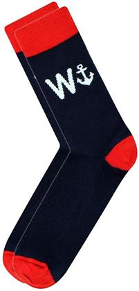 Cockney Spaniel - W Anchor - Men's Novelty Socks