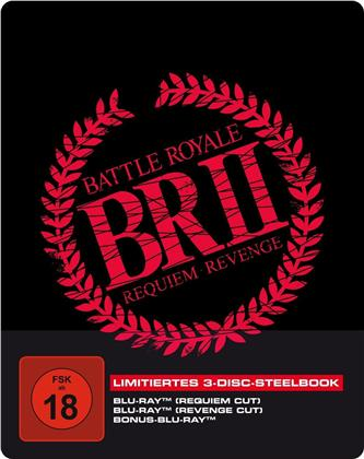 Battle Royale 2 (2003) (Limited Edition, Steelbook, 3 Blu-rays)