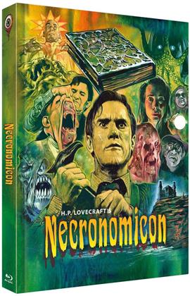 Necronomicon (1993) (Cover C, Limited Edition, Mediabook, Uncut, Blu-ray + 2 DVDs)