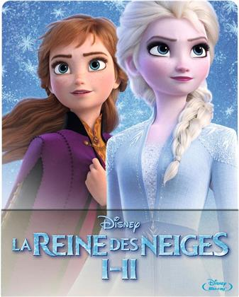 La Reine des Neiges 1 & 2 (Limited Edition, Steelbook, 2 Blu-rays)