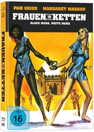 Frauen in Ketten - Black Mama, White Mama (1973) (Cover B, Limited Edition, Mediabook, Blu-ray + DVD)