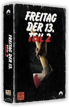 Freitag der 13. - Teil 2 (1981) (VHS Retro Edition, VHS Box, Limited Edition, Blu-ray + DVD)