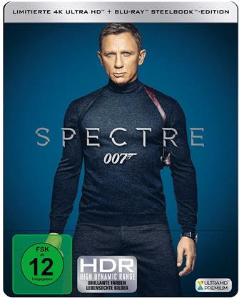 James Bond: Spectre (2015) (Limited Edition, Steelbook, 4K Ultra HD + Blu-ray)