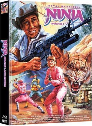 Ninja Operation 7 - Royal Warriors (1988) (Cover B, Limited Edition, Mediabook, Blu-ray + DVD)
